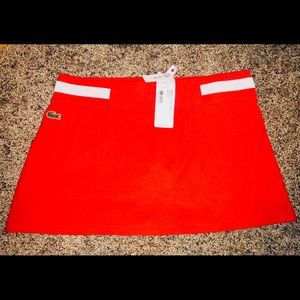 LACOSTE SPORTS TENNIS RED SKIRT ATTACHED SHORTS